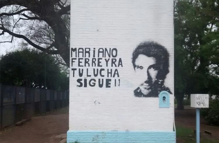(Mural de Mariano Ferreira en General Rodríguez sobre la Av. Presidente Perón)