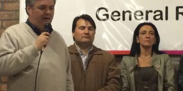 (El coordinador de Gabinete Santiago Nino, el Intendente Darío Kubar y la presidenta del Concejo, María Klajnberg)