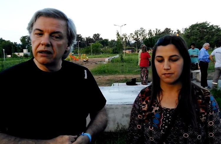 (El nuevo Presidente de la sociedad de fomento, Ángel Dibilio y la vicepresidente Sabrina Maciel)