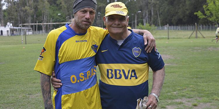 "(Daniel ""Lobo"" Cordone junto a Mingo)"