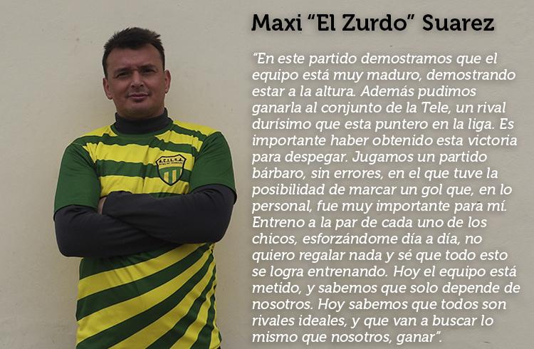 """(Maxi """"El Zurdo"""" Suarez)"""