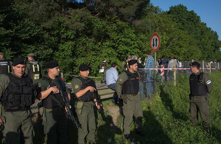 (Imagen del procedimeinto realizado el 28 de octubre en General Rodríguez)