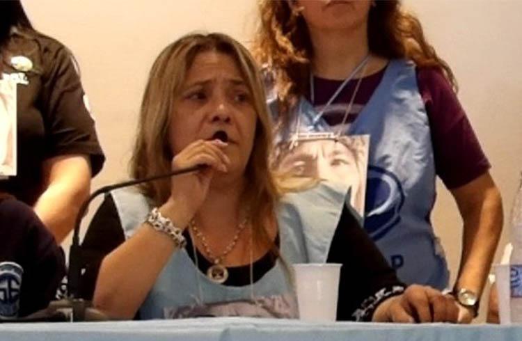 (Alejandra López, Secretaria General del Sadop de la Ciudad de Buenos Aires)