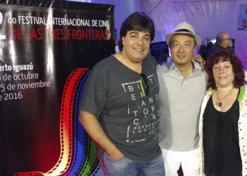 (Fernando Pérez, Chang Sung Kim y Paula García)