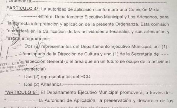 (Fragmento de la ordenanza 4188/16 en el que trata sobre la comisión fiscalizadora)