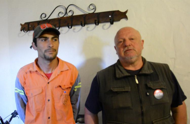 (Pablo Oviedo y Franco Olsman, delegados de ATE)