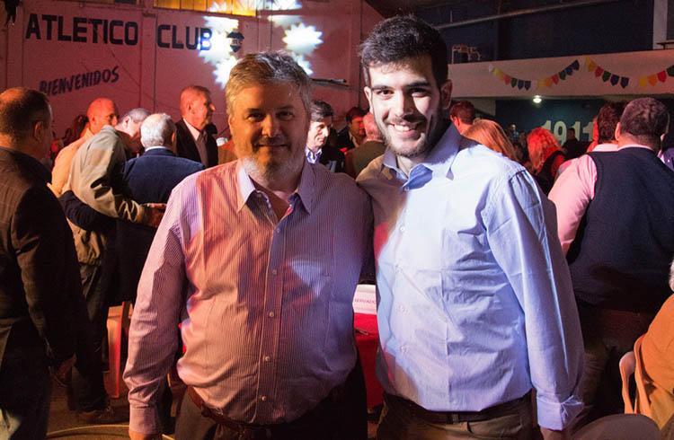 (Santiago Nino, Presidente del Comité de la UCR de General Rodríguez y David Klajnberg, Encargado de Juventud)