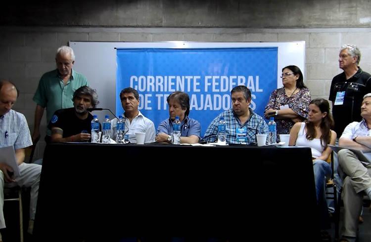 (Conferencia de prensa de los referentes de la Corriente Federal de los Trabajadores)