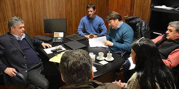 (Tedesco en la reunión de mayo pasado con Kubar, Nino, Klajnberg  y otros  funcionarios municipales)