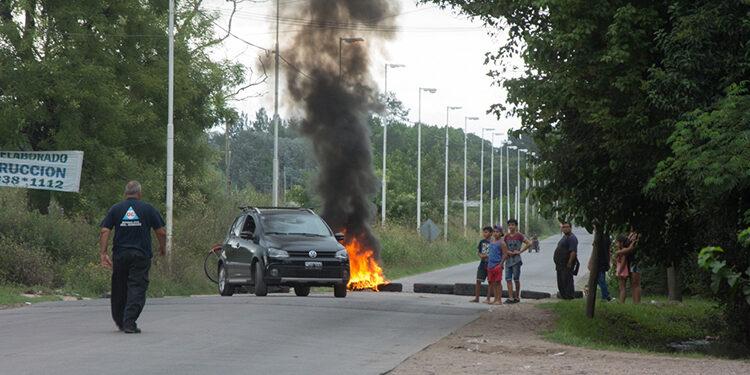 (El corte de la calle Corrientes)