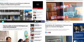 ( Portadas de algunos de los sitios Web informativos nacionales que se hicieron eco de la noticia local )
