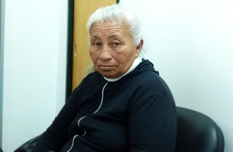 ( Ramona Aguirre, trabajadora despedida del comedor del barrio Agua de Oro )
