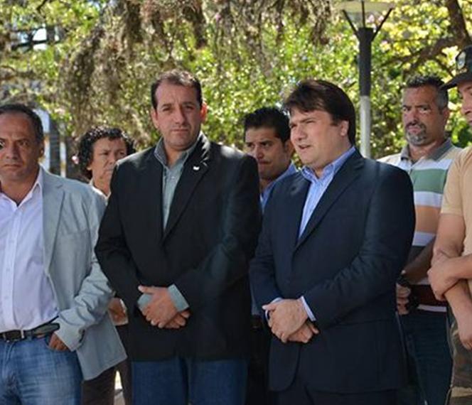 Sergio Fernández, Secretario de Seguridad de Gral. Rodríguez y Darío Kubar, Intendente desde diciembre del 2015