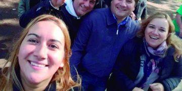 Florencia Ruiz, Natalia Ruiz, Darío Kubar y Sergio Cuello