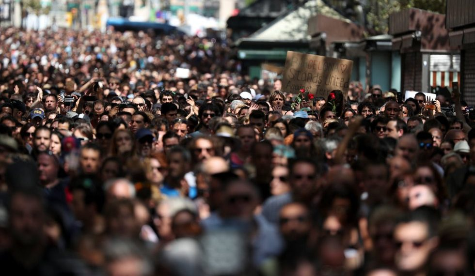 Movilización por el atentado en Barcelona