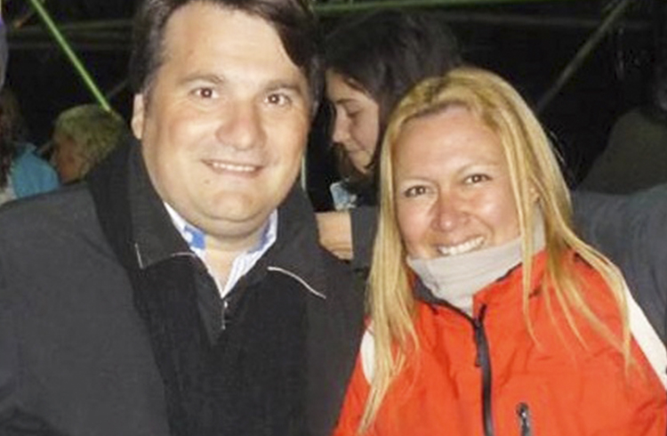Otros tiempos: El intendente Darío Kubar y Gisela Devia durante la Expodel 2016