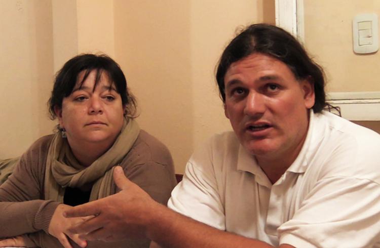 Lic. Fernanda Batalla y Nazareno Conde, Sec. Adj. De Suteba Gral. Rodriguez