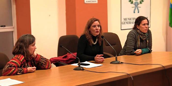 De izq. a derecha: Giselle Martin, Patricia Cubría y María Giménez