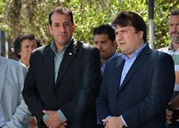 Izquierda a derecha: Secretario de Seguridad Sergio Fernandez, Intendente Dario Kubar
