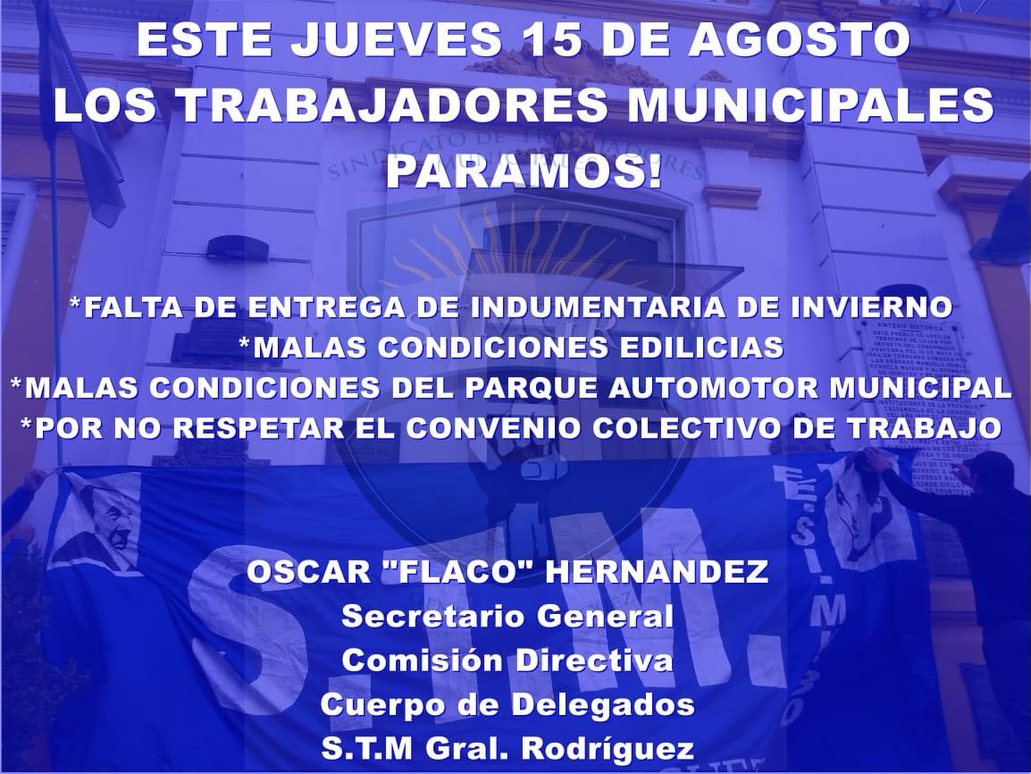 Comunicado STM General Rodriguez