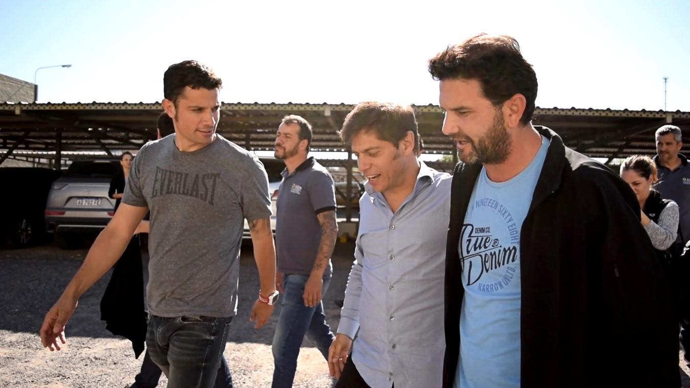 Mauro Garcia, Heber Rios y Axel Kicillof