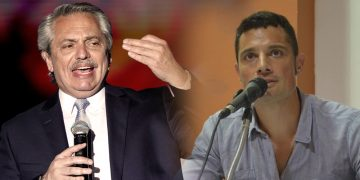 Alberto Fernández, y Mauro García