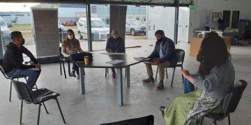 Diego Nasser reunido con su equipo para organizar las tareas de fiscalización en las empresas