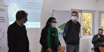 Mariana Galván, Secretaria de Salud Pública y Desarrollo Social, y Gustavo Tummino, Subsecretario de Salud)